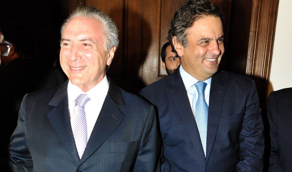Michel Temer e Aécio Neves