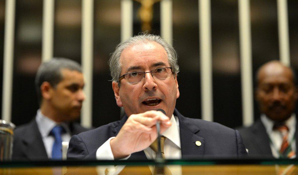 Brasília - Presidente da Câmara, Eduardo Cunha, recebe representantes de sete parlamentos estrangeiros, para a 6ª Reunião da Assembleia Parlamentar da Comunidade dos Países de Língua Portuguesa (Antonio Cruz/Agência Brasil)