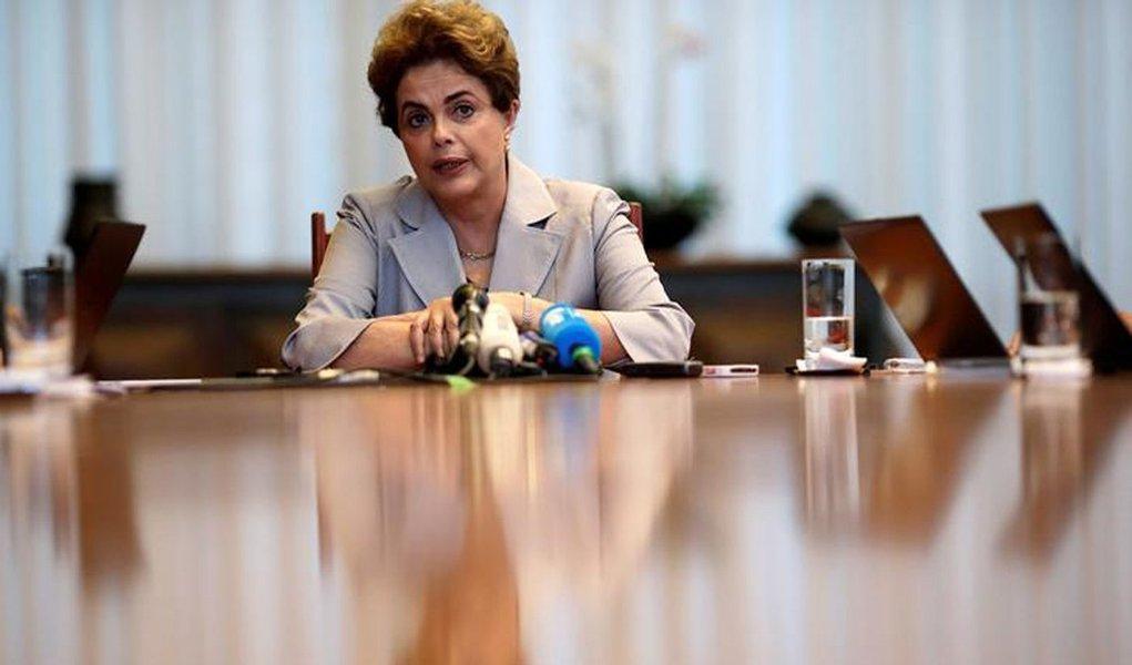 Dilma Rousseff concede entrevista à mídia estrangeira em Brasília. 14/6/2016. REUTERS/Ueslei Marcelino