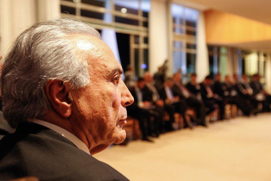Presidente Michel Temer durante reunião com ministros e líderes da base aliada na câmara dos deputados no Palácio do Alvorada (Brasília - DF 27/09/2016) Foto: Beto Barata/PR