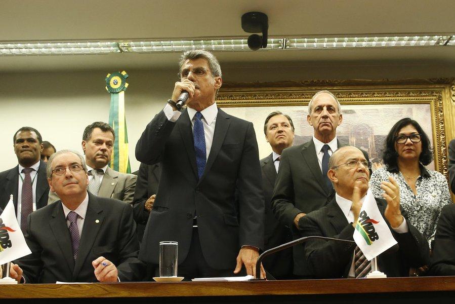 Reunião do diretório nacional do PMDB, que oficializou o desembarque do governo federal