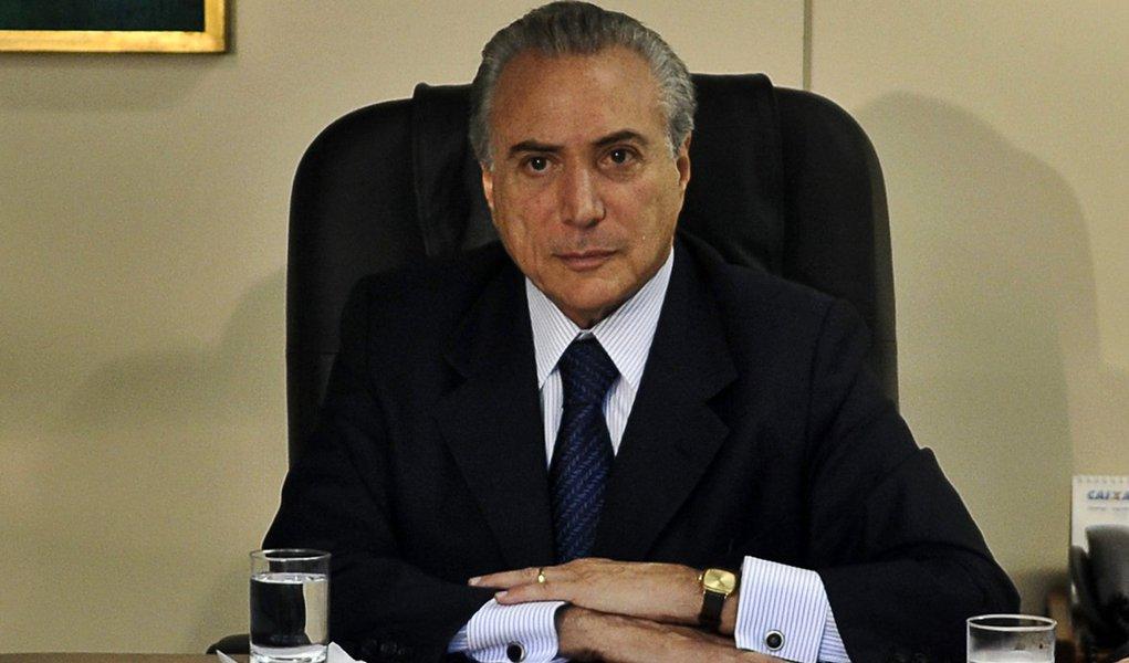 Brasilia - O presidente em exercicio Michel temer se reune com ministros e representates da area de meio ambiente e seguraca, para tratar do Plano Estrteico de Fronteiras