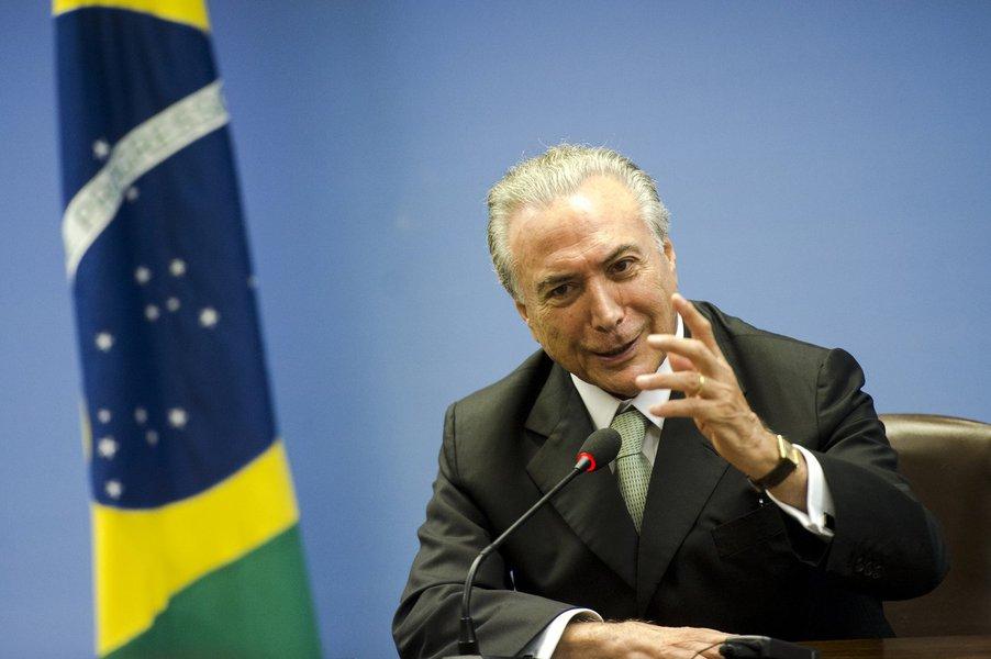 Brasília - O vice-presidente da República, Michel Temer, durante entrevista coletiva no Palácio Itamaraty (Marcelo Camargo/Agência Brasil)