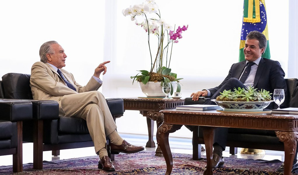 Brasília - DF, 18/05/2016. Presidente Interino Michel Temer recebe Beto Richa, Governador do Paraná e o Deputado Antonio Imbassahy. Foto: Marcos Corrêa/PR
