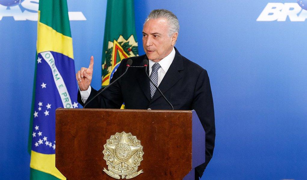 Brasília - DF, 08/06/2016. Presidente Interino Michel Temer durante encontro com Líderes Empresariais. Foto: Carolina Antunes/PR