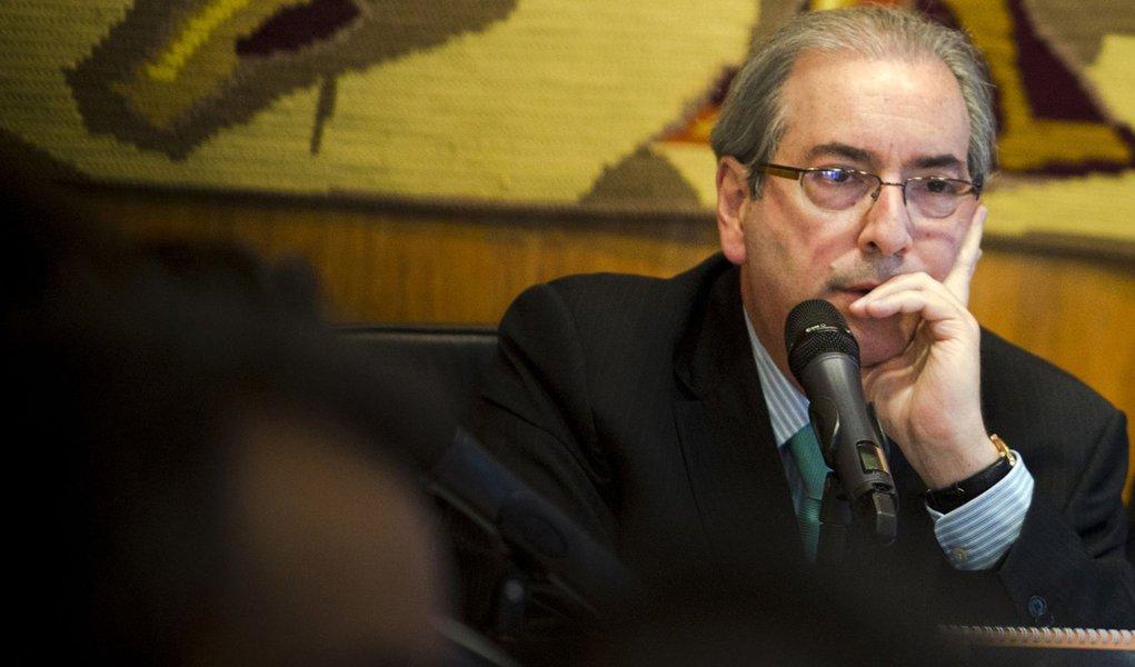 Bras�lia - O Presidente da C�mara dos Deputados, Eduardo Cunha, durante reuni�o de l�deres (Marcelo Camargo/Ag�ncia Brasil)