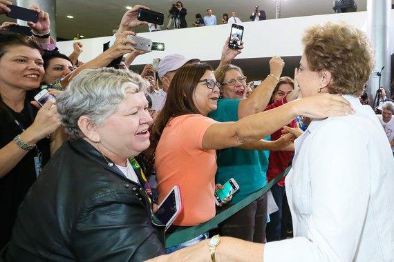 Brasília - DF, 12/04/2016. Presidenta Dilma Rousseff durante encontro da Educação pela Democracia. Foto: Roberto Stuckert Filho/PR
