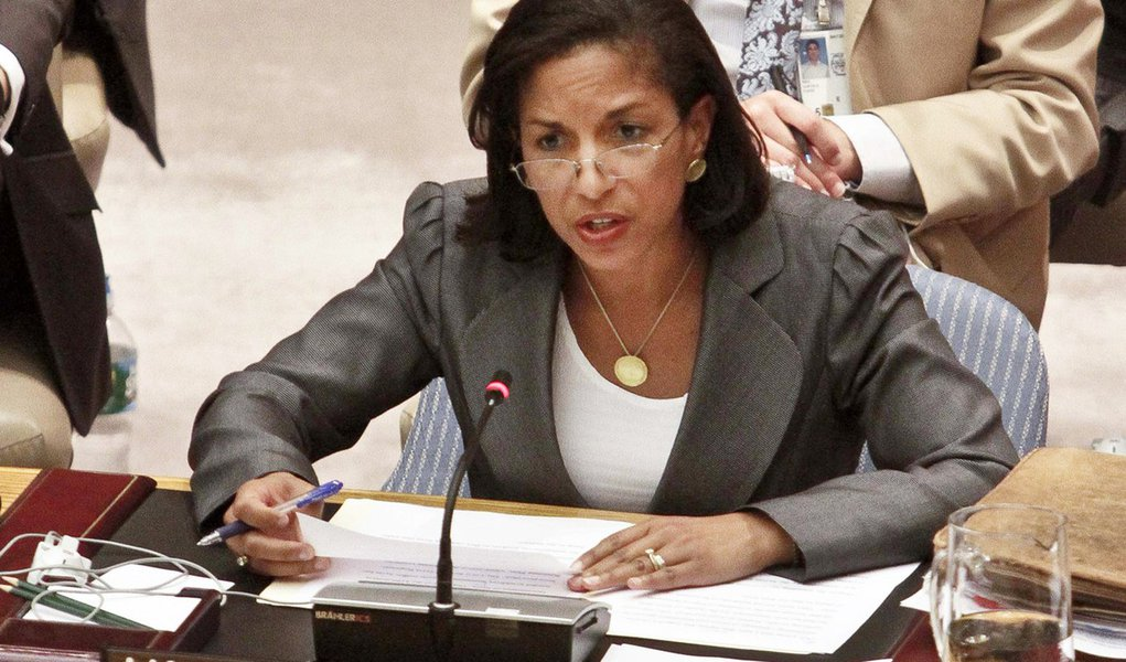 U.S. Ambassador Susan Rice speaks during a meeting on Syria in the United Nations Security Council, Aug. 30, 2012.