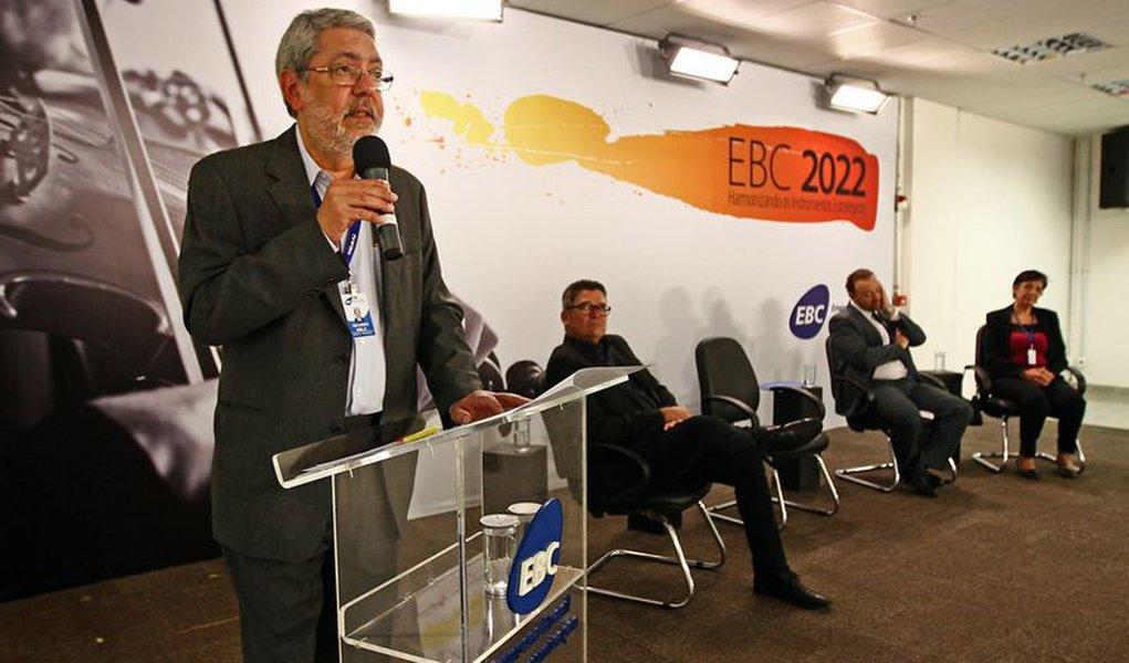 Bras�lia - Jornalista Ricardo Melo toma posse no cargo de diretor-presidente da Empresa Brasil de Comunica��o - EBC (Juca Varella/Ag�ncia Brasil)