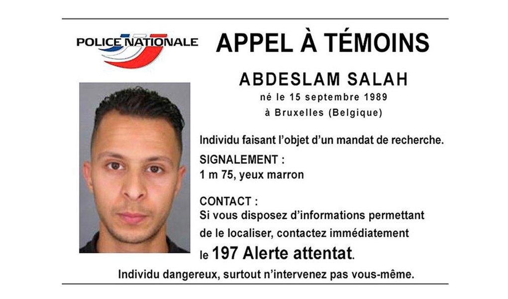Imagem de Salah Abdeslam distribuída pela polícia francesa no Twitter em 15 de novembro de 2015. REUTERS/Divulgação via Reuters