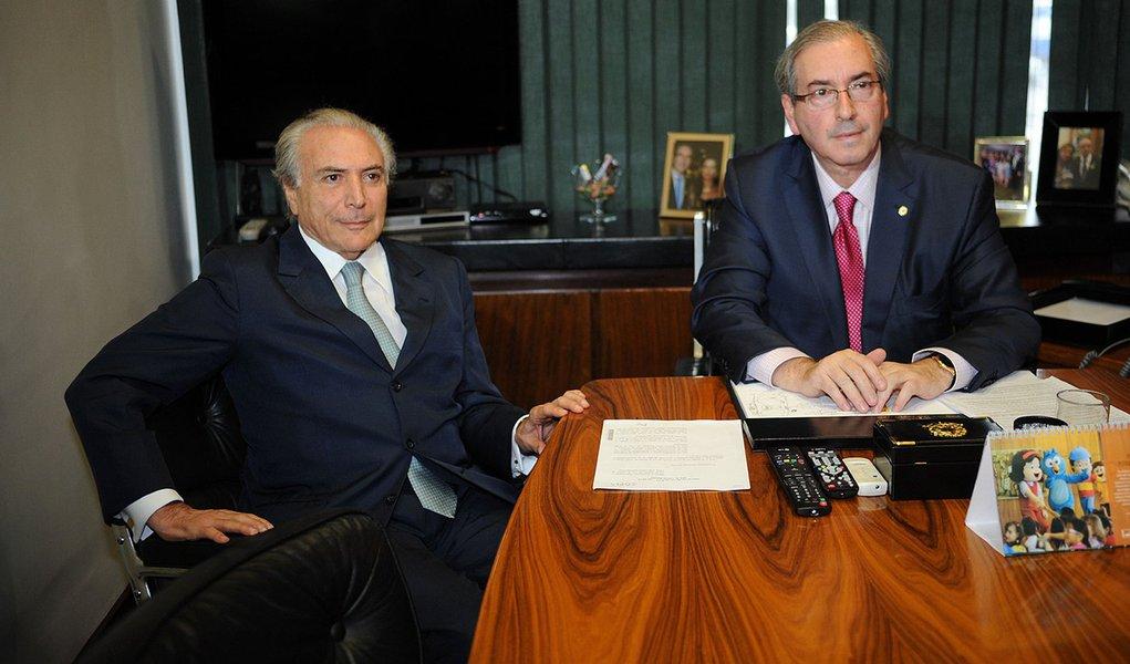 Brasília- DF- Brasil- 10/03/2015- Vice-presidente Michel Temer se reúne com presidente da Câmara, Eduardo Cunha (Fabio Rodrigues Pozzebom/Agência Brasil)