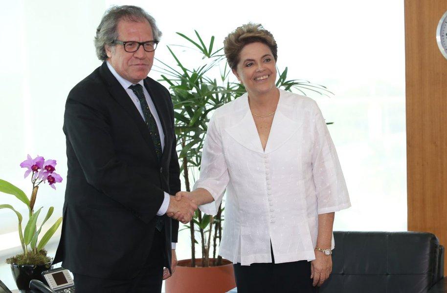 Brasília- DF 15-04-2016 Presidenta, Dilma, durante encontro com Luis Almagro Secretário-Geral da Organização dos Estados Americanos Foto Lula Marques/Agência PT
