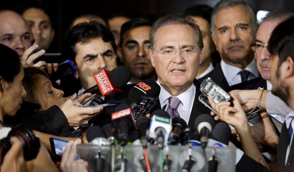 Presidente do Senado Federal, senador Renan Calheiros (PMDB-AL), concede entrevista. Foto: Jefferson Rudy/Agência Senado