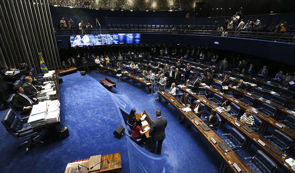 Brasília - Senado faz leitura da denúncia contra a presidente Dilma Rousseff por crime de responsabilidade (Fabio Rodrigues Pozzebom/Agência Brasil)