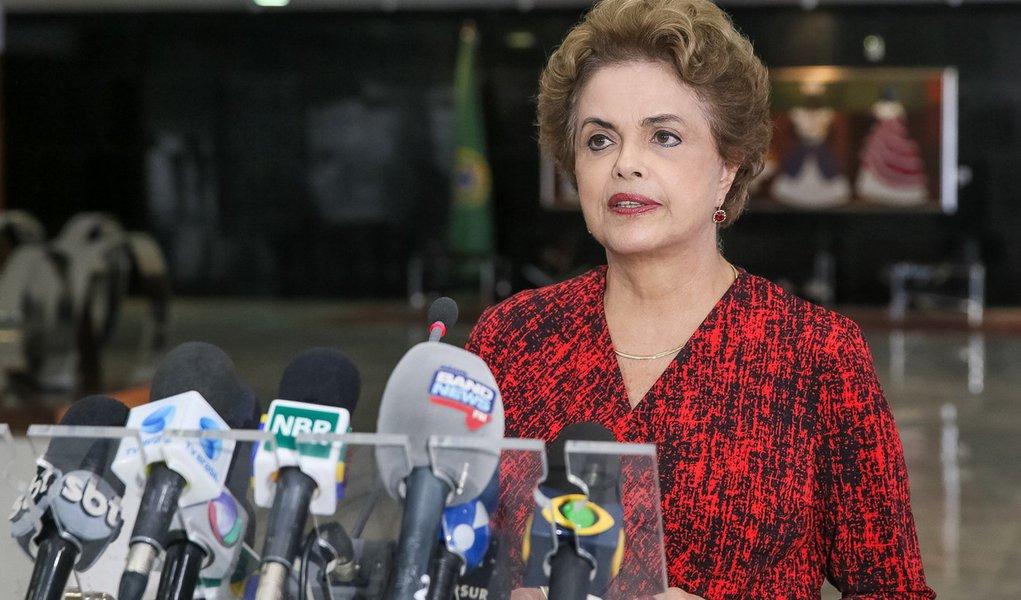 Brasília - DF, 16/03/2016. Presidenta Dilma Rousseff durante coletiva de imprensa. Foto: Roberto Stuckert Filho/PR