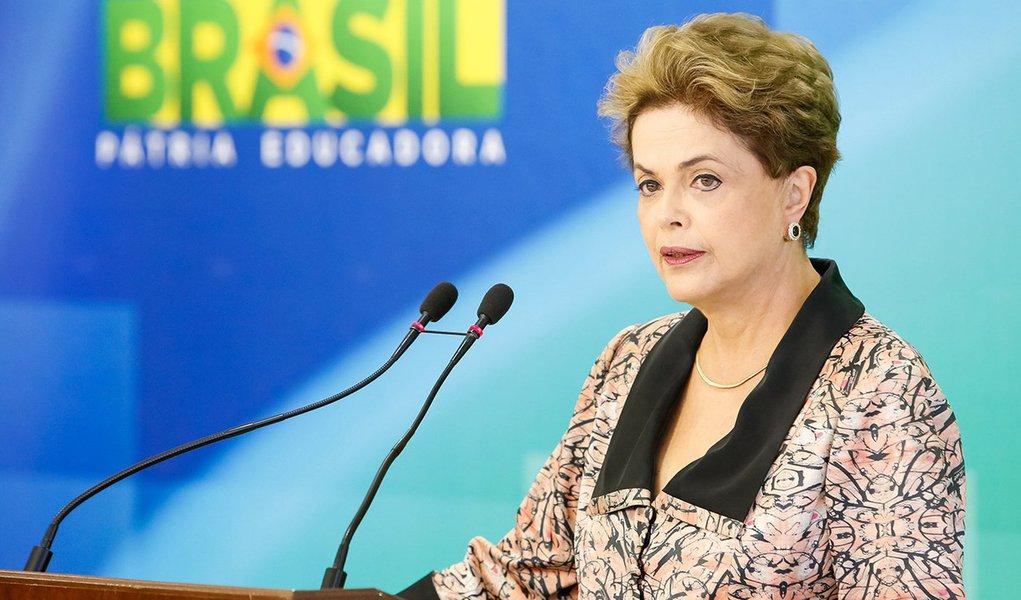 Brasília - DF, 19/04/2016. Presidenta Dilma Rousseff durante coletiva de imprensa. Foto: Roberto Stuckert Filho/PR