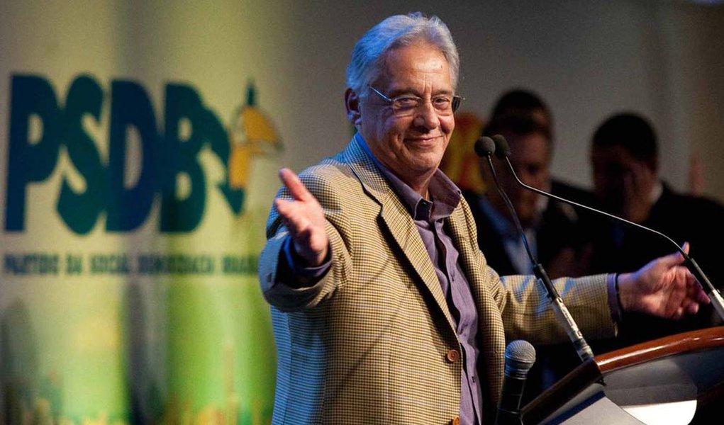 O ex-presidente Fernando Henrique Cardoso, durante lan�amento da candidatura de Jos� Serra � Presid�ncia da Rep�blica pelo PSDB, no Centro de Conven��es Brasil 21.