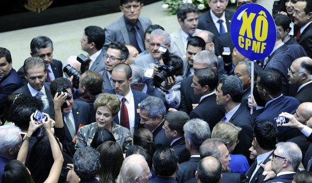 Brasília- DF- Brasil- 02/02/2016- Sessão solene do Congresso Nacional para abertura dos trabalhos legislativos do segundo ano da 55ª Legislatura. Foto: Lucio Bernardo Jr./ Câmara dos Deputados