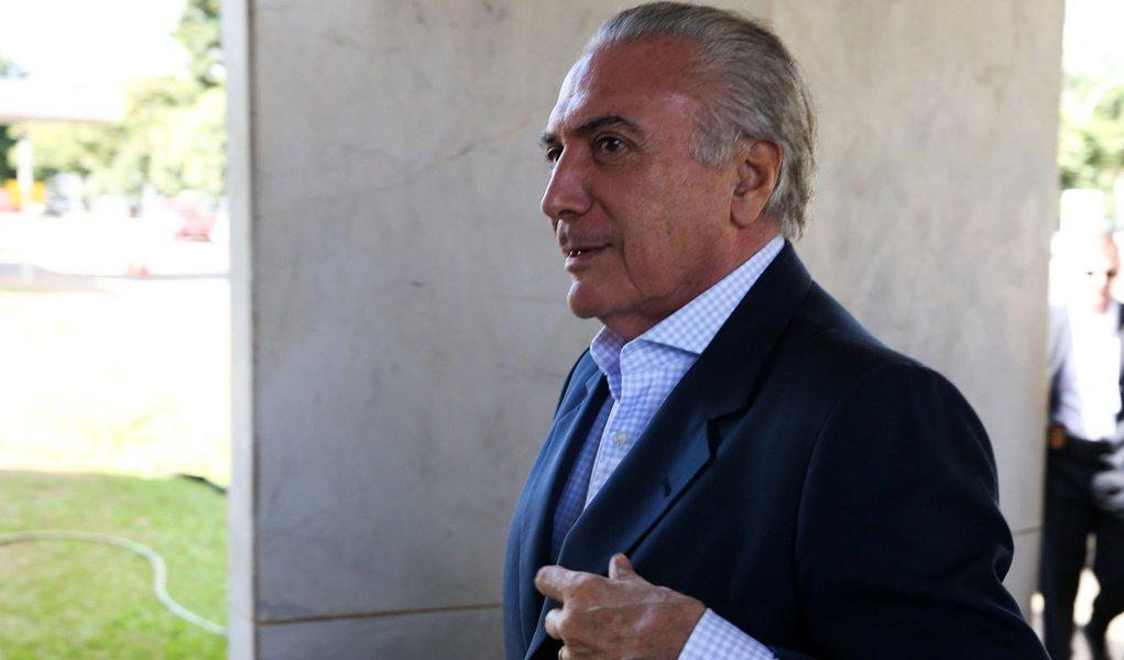 Bras�lia - Chegada do Vice-Presidente, Michel Temer, na vice-presidencia (Valter Campanato/Ag�ncia Brasil)