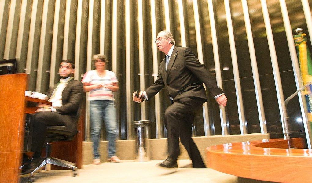Brasília- DF 03-03-2016 Deputado Eduardo Cunha durante sessão da câmara. Foto Lula Marques/Agência PT