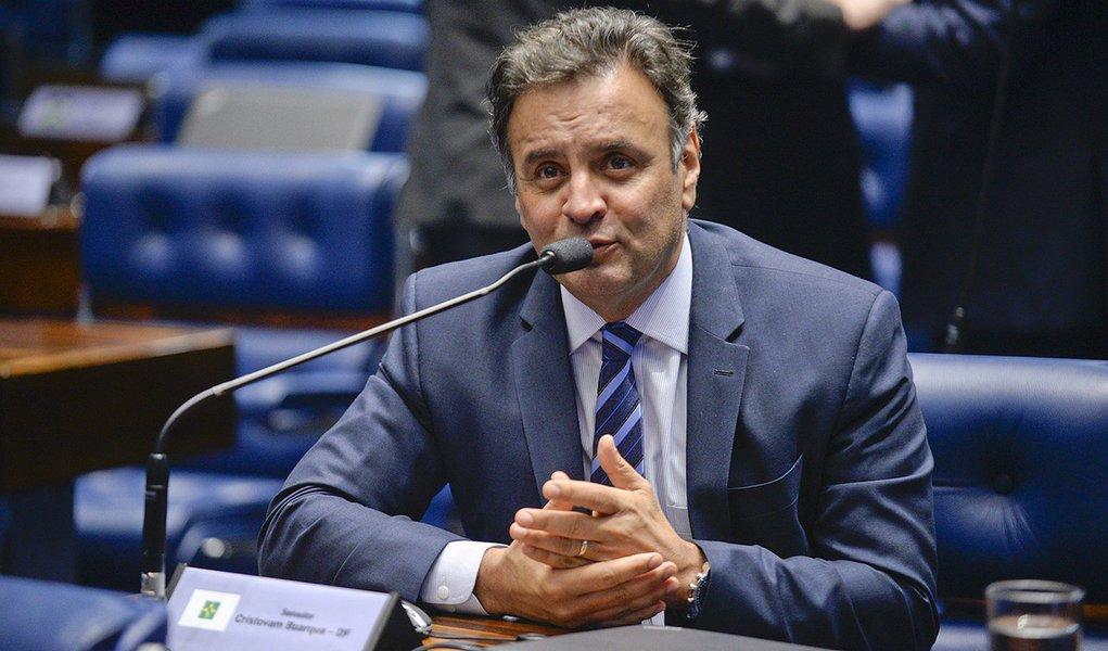 Plenário do Senado durante sessão deliberativa ordinária. Em pronunciamento, senador Aécio Neves (PSDB-MG). Foto: Jefferson Rudy/Agência Senado