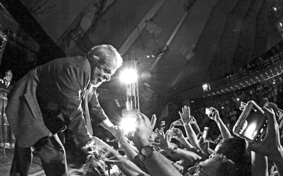 São Paulo- SP- Brasil- 08/04/2016- Ex-presidente Lula, durante encontro com profissionais da educação, no Auditório Celso Furtado, no Centro de Convenções do Anhembi, zona norte da cidade. Foto: Ricardo Stuckert/ Instituto Lula