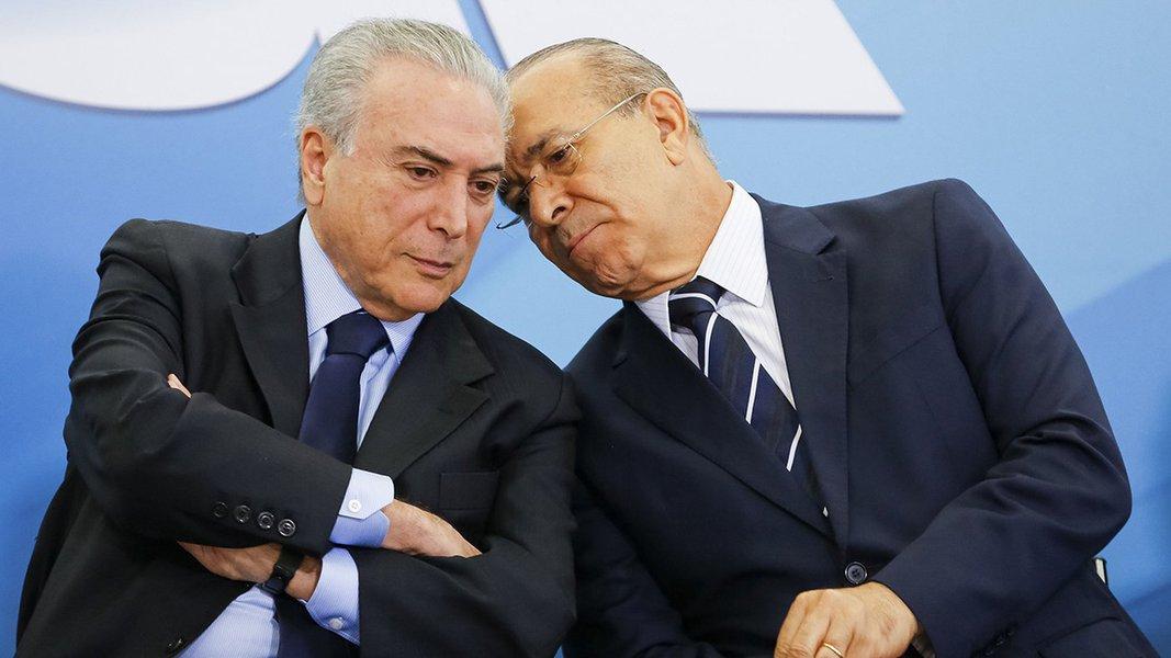 Brasília - Presidente Michel Temer e o ministro da Casa Civil, Eliseu Padilha durante cerimônia de Lançamento do Programa Criança Feliz (Carolina Antunes/PR)