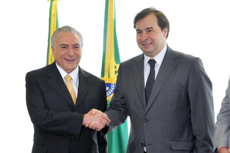 Presidente da Câmara, dep. Rodrigo Maia (DEM/RJ), se reúne com o presidente interino Michel Temer Data: 14/07/2016. Foto: J. Batista / Câmara dos Deputados