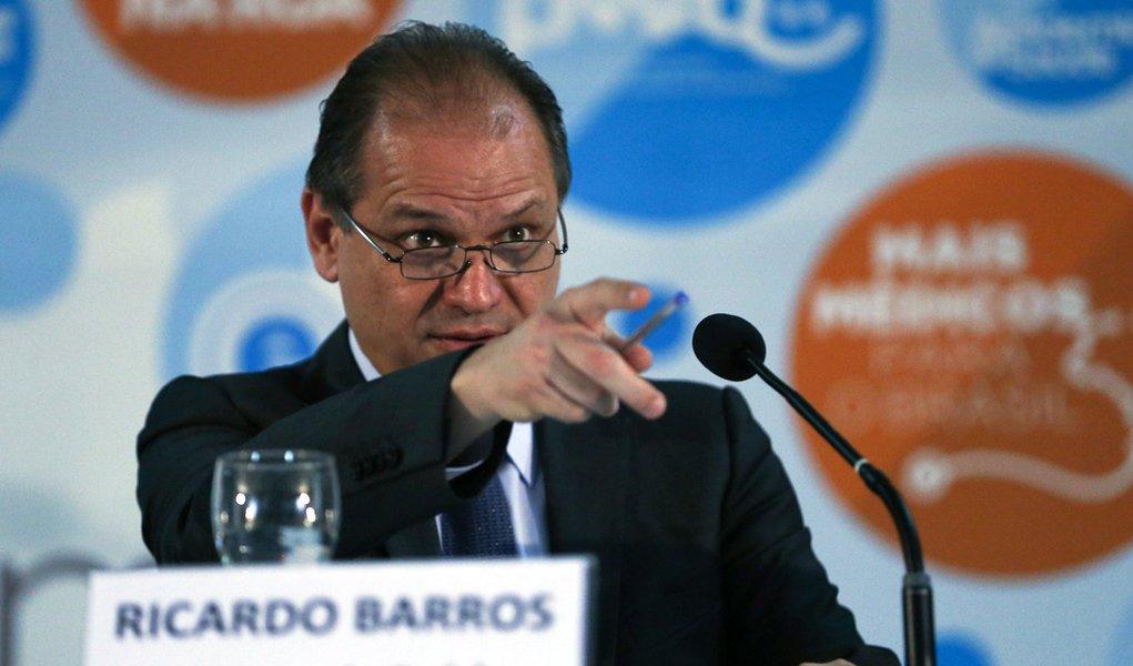 Brasília - O ministro da Saúde, Ricardo Barros, participa do encerramento do 7º Fórum Nacional de Gestão da Atenção Básica. (José Cruz/Agência Brasil)
