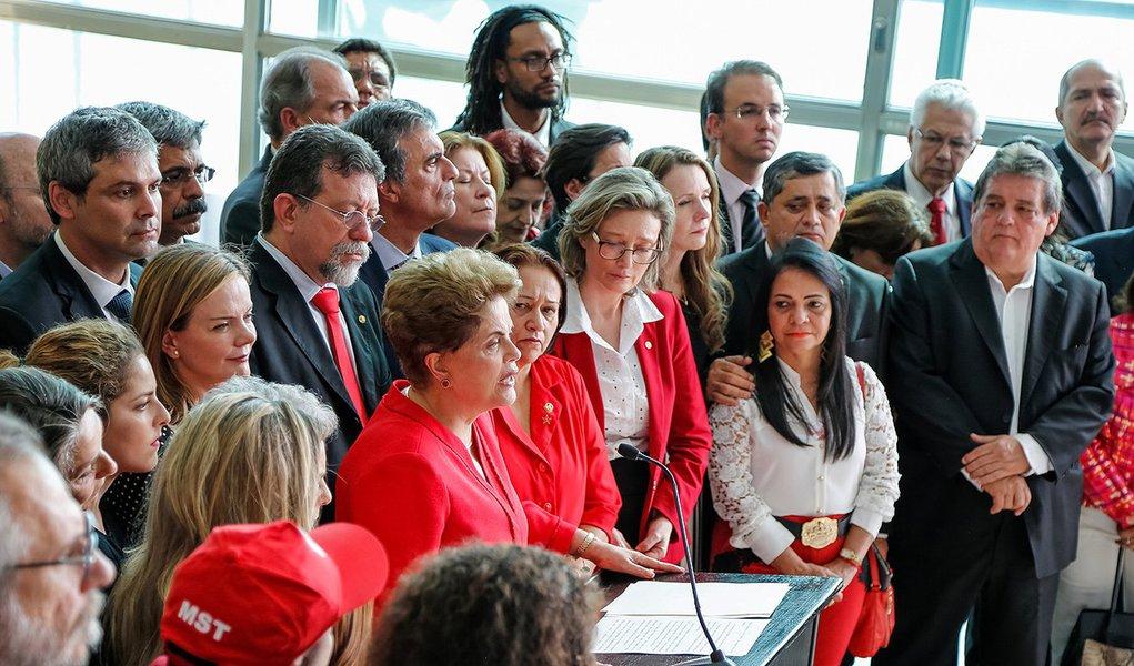 Brasília - DF, 31/08/2016. Presidenta Dilma Rousseff durante declaração a imprensa após comunicado do Senado Federal sobre o Processo de impeachment. Foto: Roberto Stuckert Filho/PR