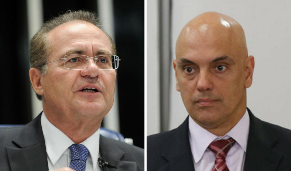 Renan Calheiros e Alexandre de Moraes