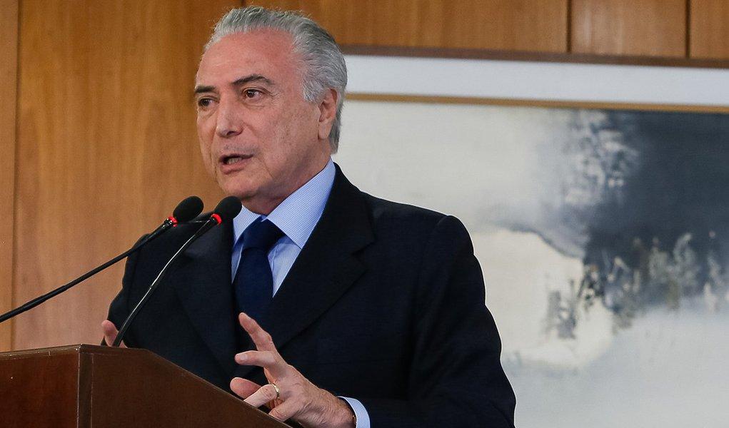 Brasília - DF, 11/10/2016. Presidente Michel Temer durante Cerimônia de Assinatura de Acordo de Cooperação Técnica com o Tribunal Superior Eleitoral. Foto: Beto Barata/PR
