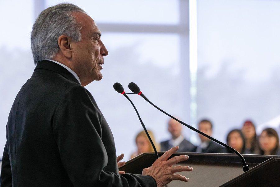 Brasília - DF, 14/07/2016. Presidente em Exercício Michel Temer durante cerimônia de anúncio de nova norma do Programa Minha Casa Minha Vida. Foto: Beto Barata/PR
