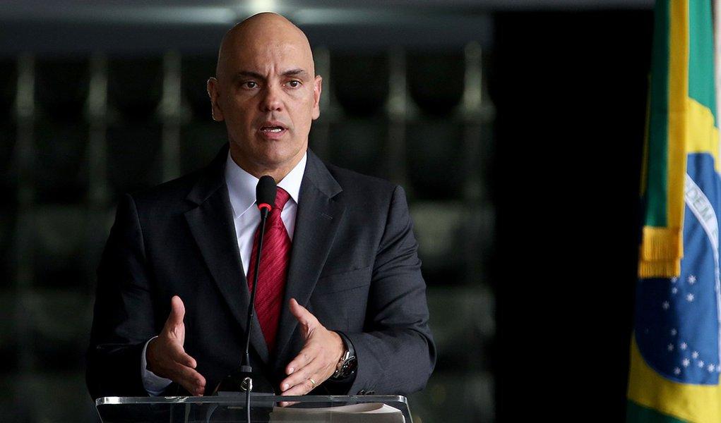 Brasília - O ministro da Justiça e Cidadania, Alexandre de Moraes participa do lançamento da cartilha: Racismo é Crime (Wilson Dias/Agência Brasil)