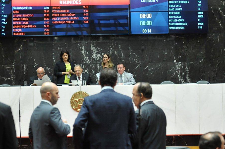 Dalmo Ribeiro Silva (deputado estadual PSDB/MG), Hely Tarq��nio (1� - vice-presidente da ALMG - PV/MG), Dirceu Ribeiro (deputado estadual PHS/MG)
