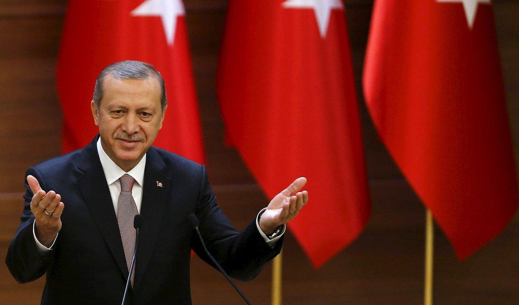 Presidente da Turquia, Tayyip Erdogan, durante evento em Ancara. 26/11/2015 REUTERS/Umit Bektas