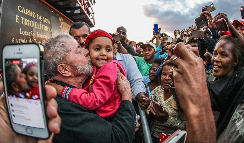 18/11/2016- Sumaré- SP, Brasil- Ex-presidente Lula durante visita à Vila Soma.Foto: Ricardo Stuckert/ Instituto Lula