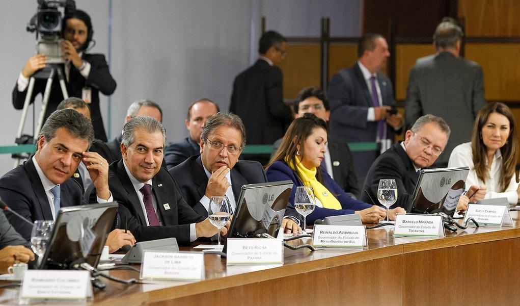 Brasília - DF, 20/06/2016. Presidente em Exercício Michel Temer durante reunião com governadores das unidades federativas do Brasil. Foto: Beto Barata/PR