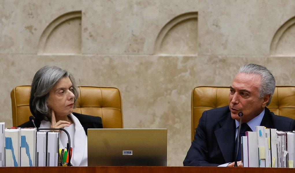 Brasília - DF, 05/10/2016. Presidente Michel Temer durante visita protocolar ao Supremo Tribunal Federal pela data de Aniversário da Constituição Federal. Foto: Beto Barata/PR