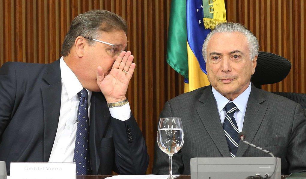 Brasília- DF 15-06-2016 Presidente interino, Michel Temer, durante reunião com líderes. Foto Lula Marques/Agência PT