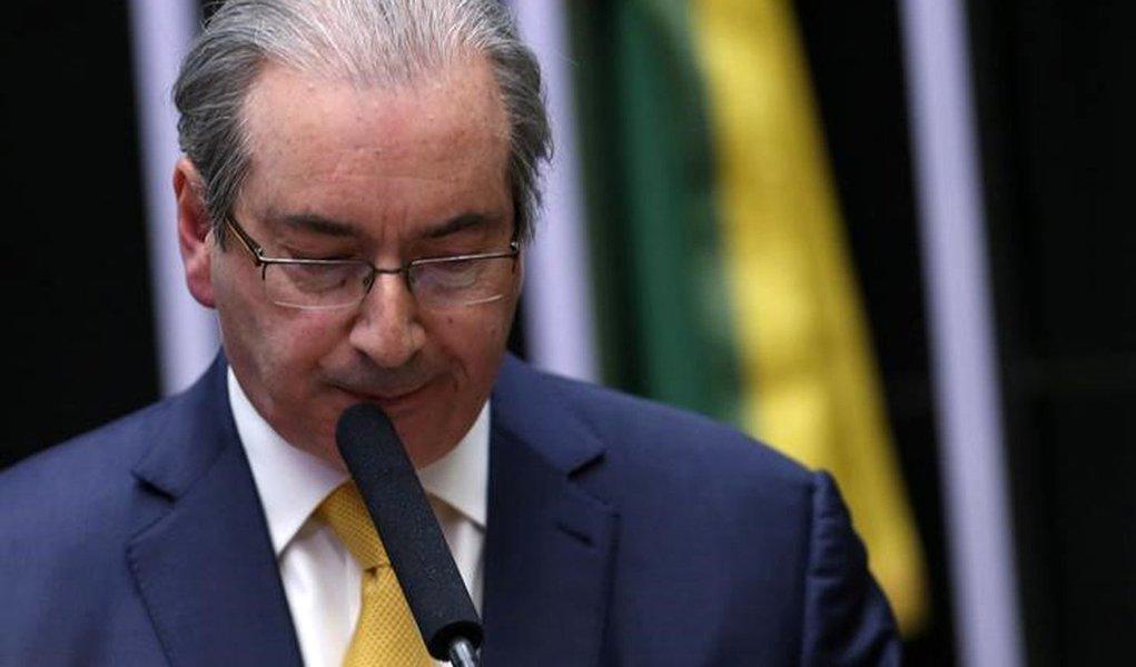 Eduardo Cunha discursa em sessão que resultou na cassação de seu mandato na Câmara dos Deputados, em Brasília 12/09/2016 REUTERS/Adriano Machado