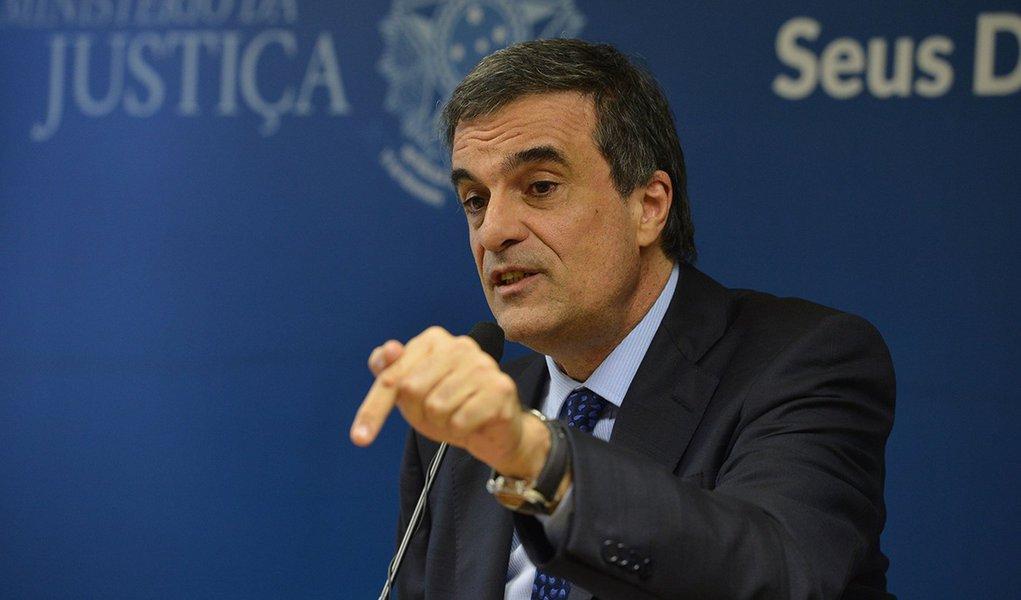Ministro da Justiça, José Eduardo Cardozo, durante a 3ª reunião entre o Depen e o Consej (Valter Campanato/Agência Brasil)
