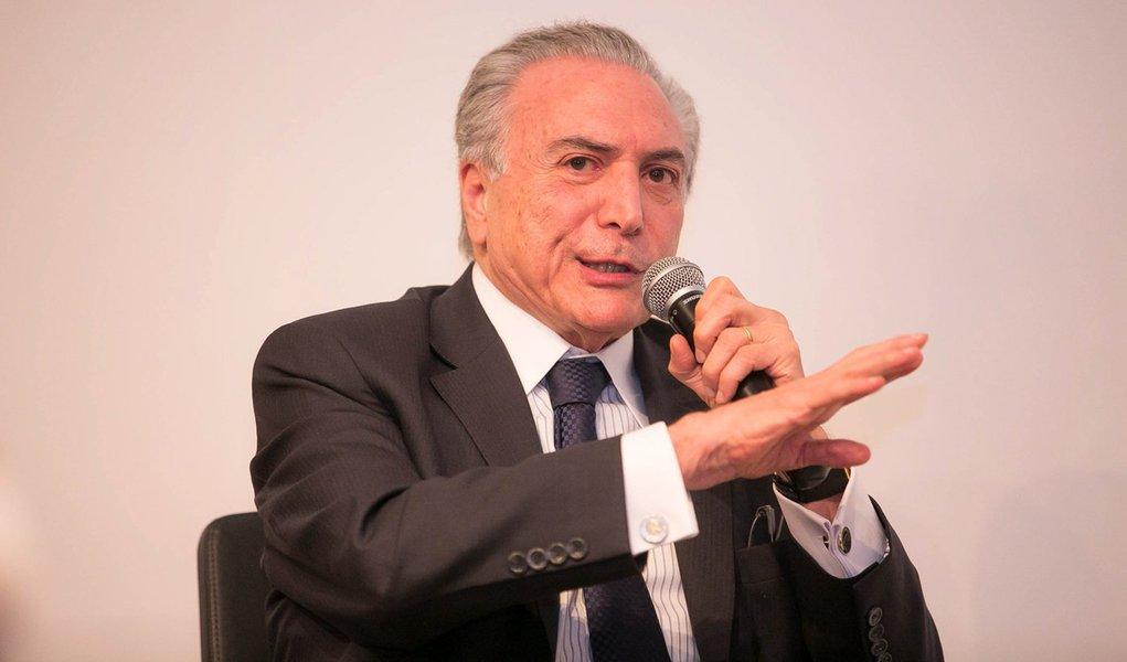 03/09/2015 - 03-09-2015 Vice-presidente Michel Temer participa agora de debate sobre política em São Paulo. Foto: Romério Cunha
