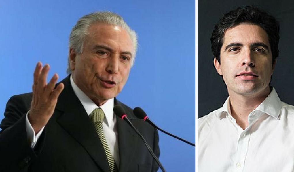 Bernardo Mello Franco e Michel Temer