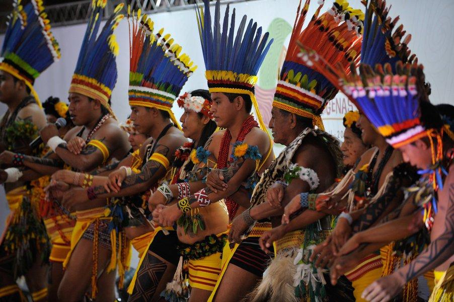 Lançamento nacional da primeira edição dos Jogos Mundiais dos Povos Indígenas (Fabio Rodrigues Pozzebom/Agência Brasil)
