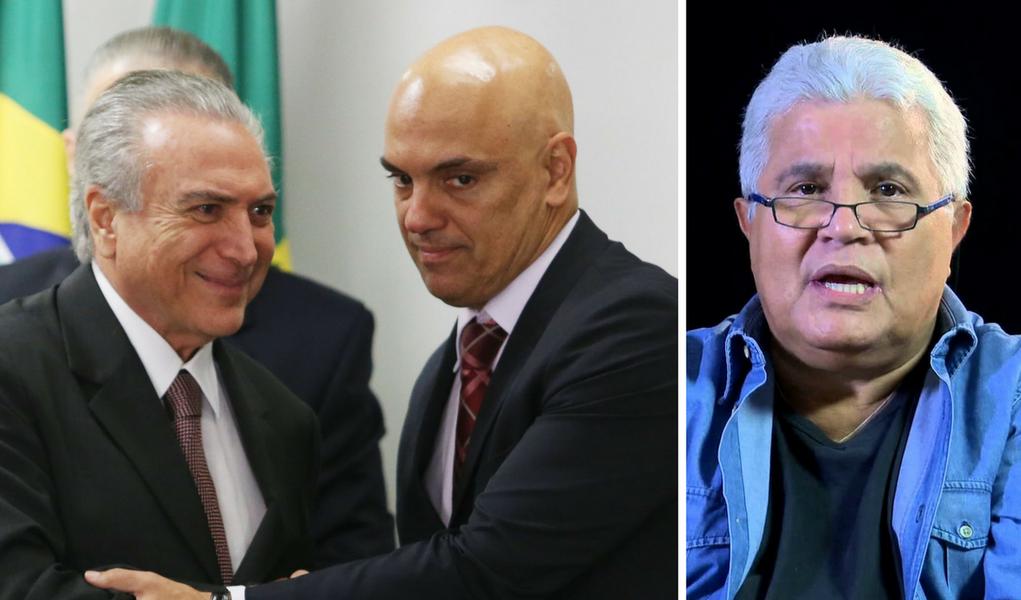Noblat, Alexandre de Moraes e Michel Temer