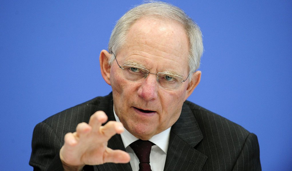 German Finance Minister Wolfgang Schaeuble gives a press conference on March 21, 2012 in Berlin. The German cabinet had approved before a bigger-than-expected budget deficit for the current year 2012 to take into account the country's increased contributi