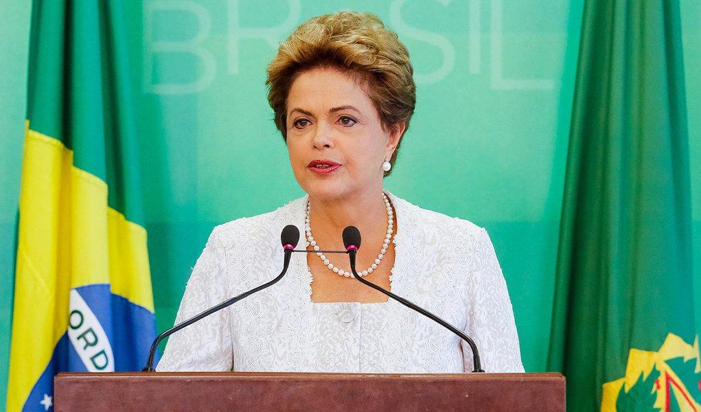 Brasília - DF, 02/10/2015. Presidenta Dilma Rousseff durante anúncio da reforma administrativa do Governo Federal. Foto: Ichiro Guerra/PR