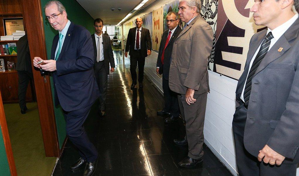 Brasília- DF 01-10-2015 Foto Lula Marques/Agência PT Presidente da câmara, Eduardo Cunha.
