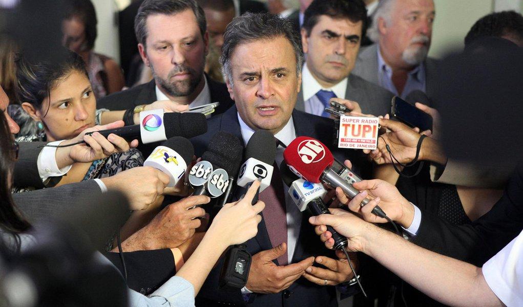 26/11/2015 - Brasília - DF - O senador Aécio Neves, durante reunião da Executiva Nacional do PSDB. Foto: George Gianni/ PSDB